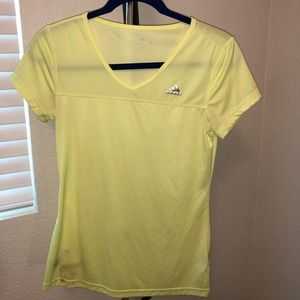 Adidas neon green/yellow workout top
